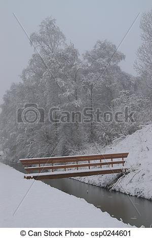 Stock Photography of Snow Bridge.