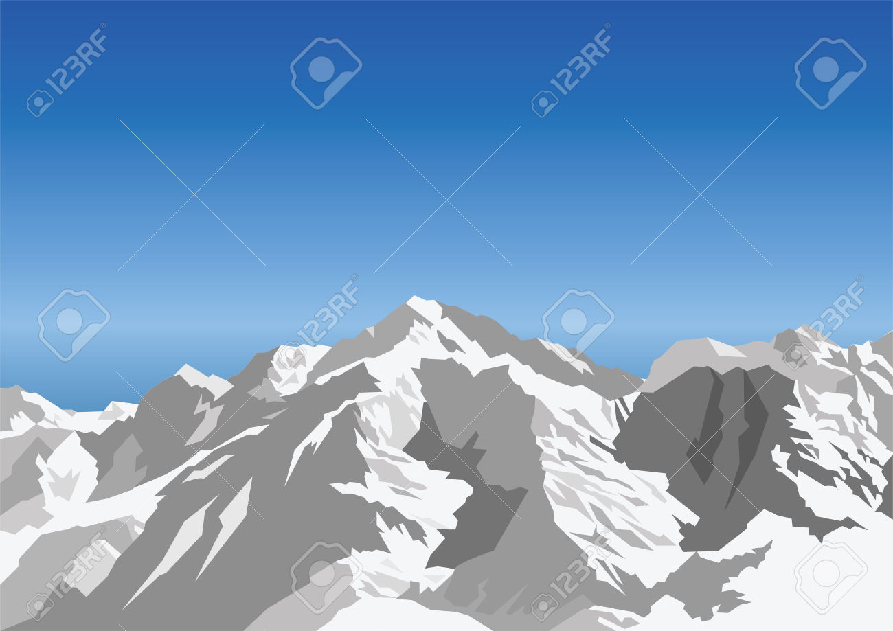 Snow capped mountains clipart - Clipground
