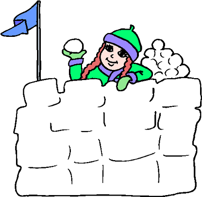 Snow Fort Clipart.