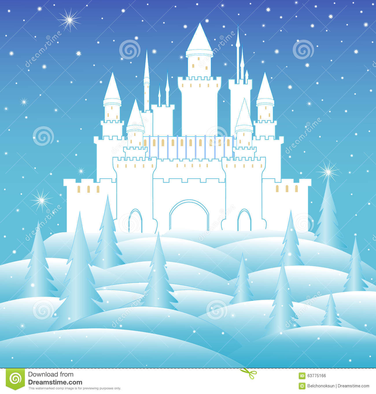 Ice Castle Clipart.