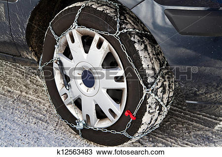 Stock Photo of snow chains k12563483.