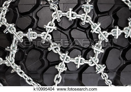 Stock Photo of Snow chains k10995404.