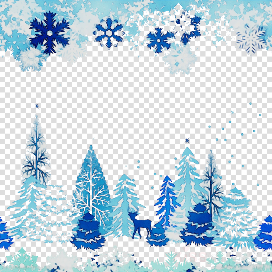 Snow Christmas Tree clipart.