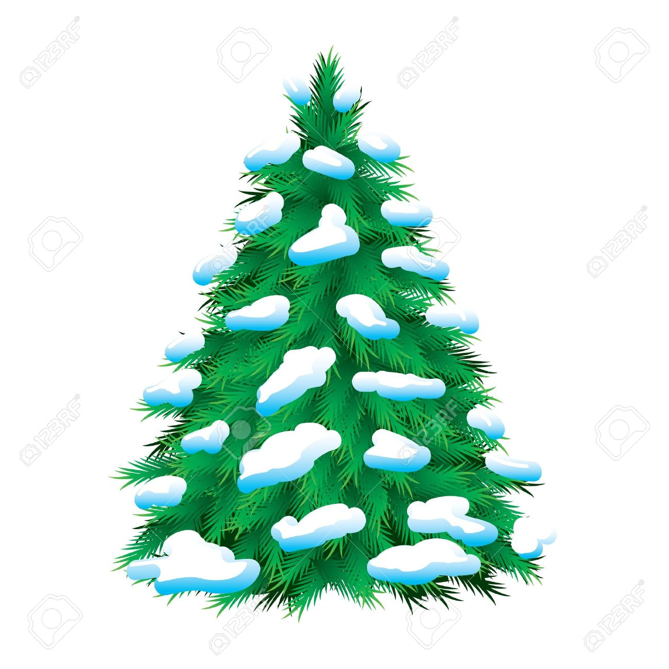 Snow christmas tree clipart clipground