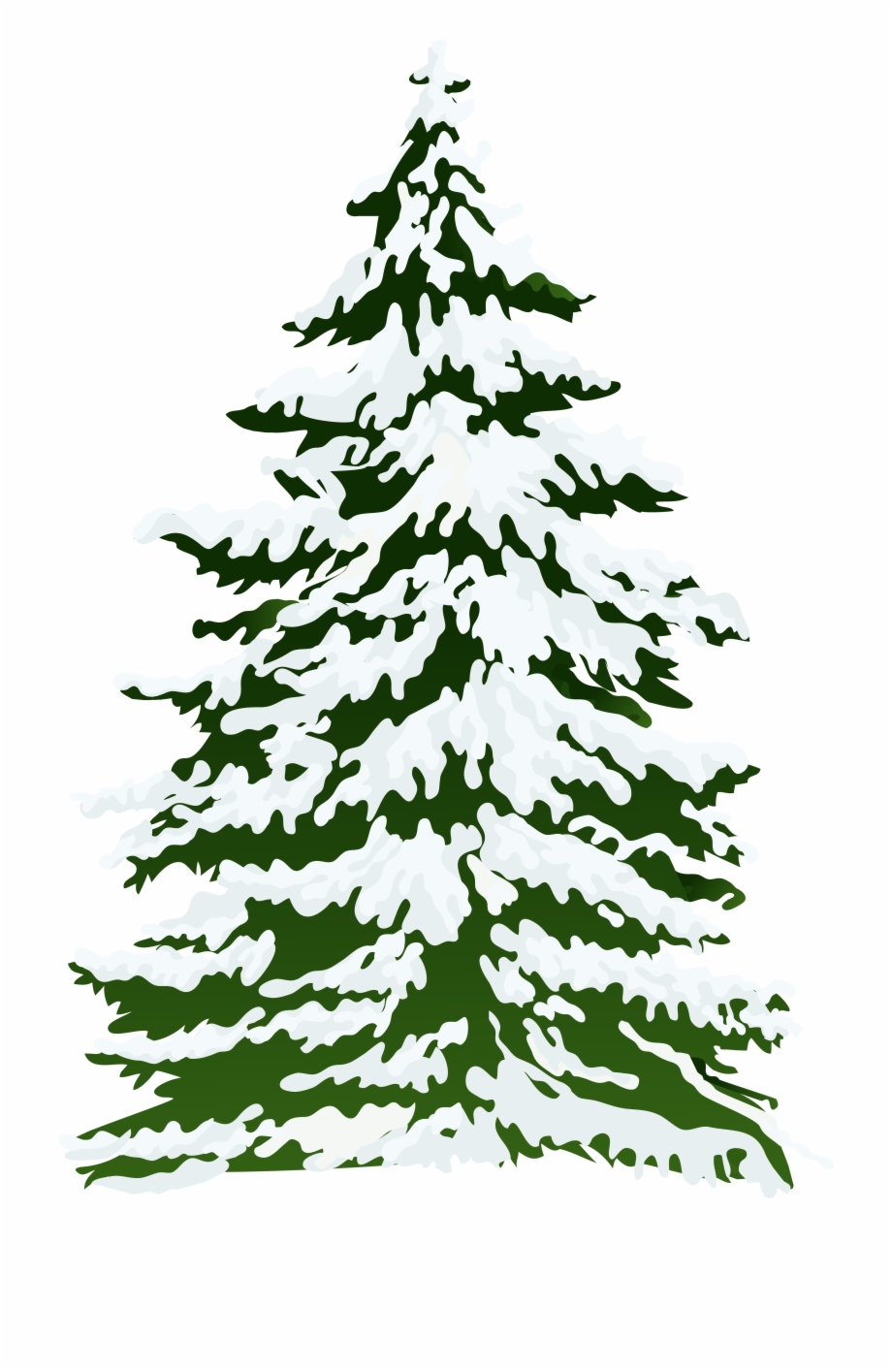 Snowy Tree Snow Pine Winter Free Clipart Hq Clipart.