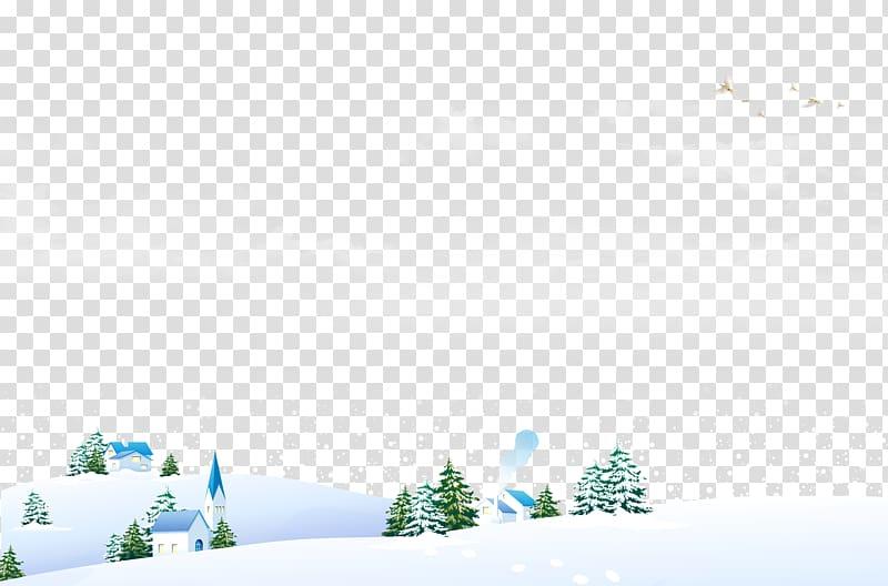Snow field Winter Landscape, Snow field transparent.