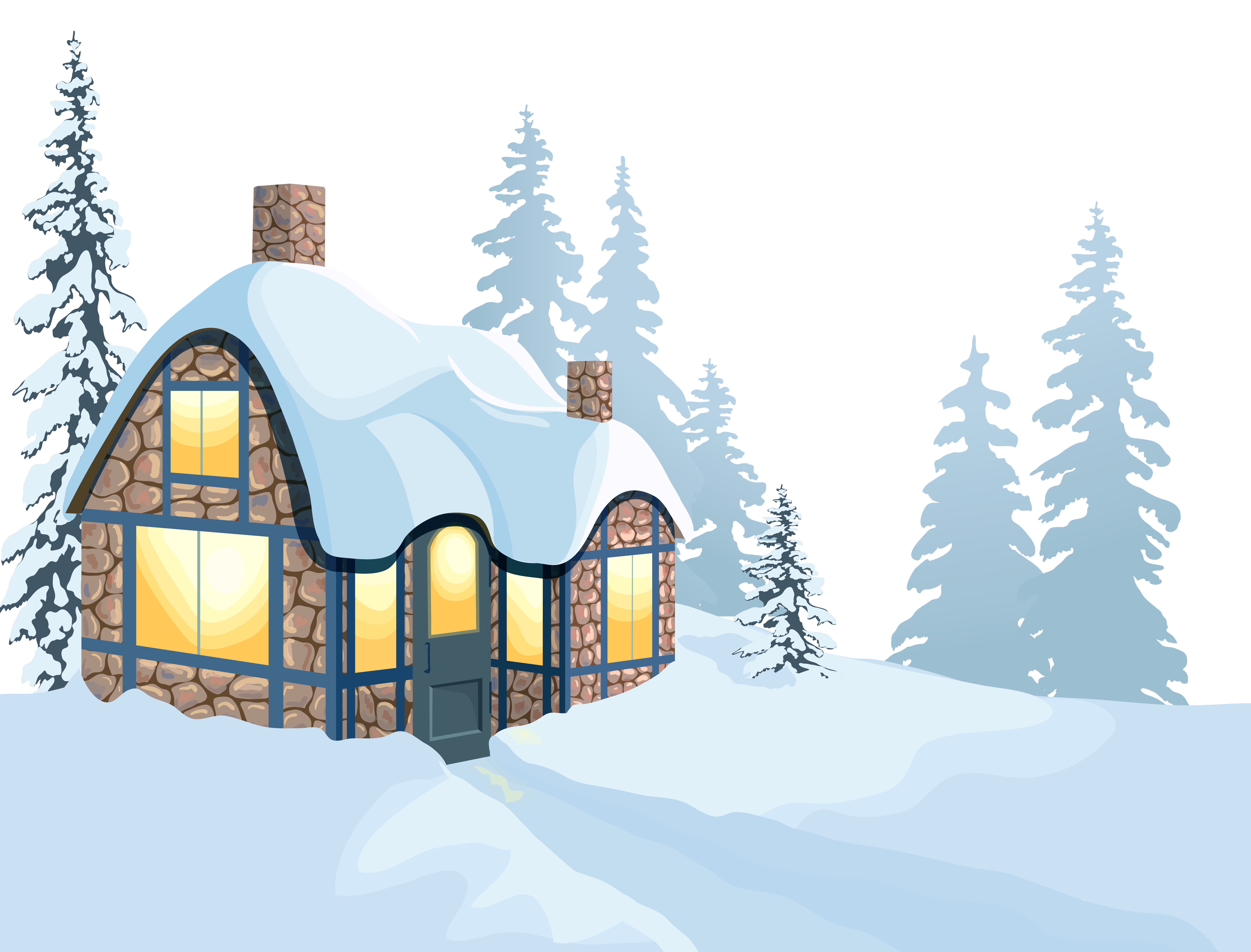 Winter House Clip art.