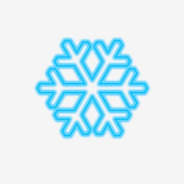Neon Effect Snow Flake, Snow, Neon, Blue PNG Transparent.