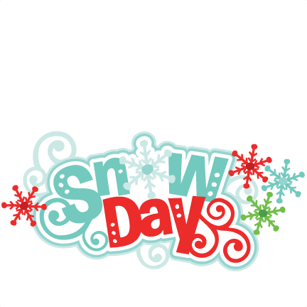 Snow Day Title SVG scrapbook cut file cute clipart files for.