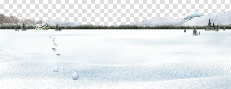 Snow Winter Computer file, Winter Snow Footprints.
