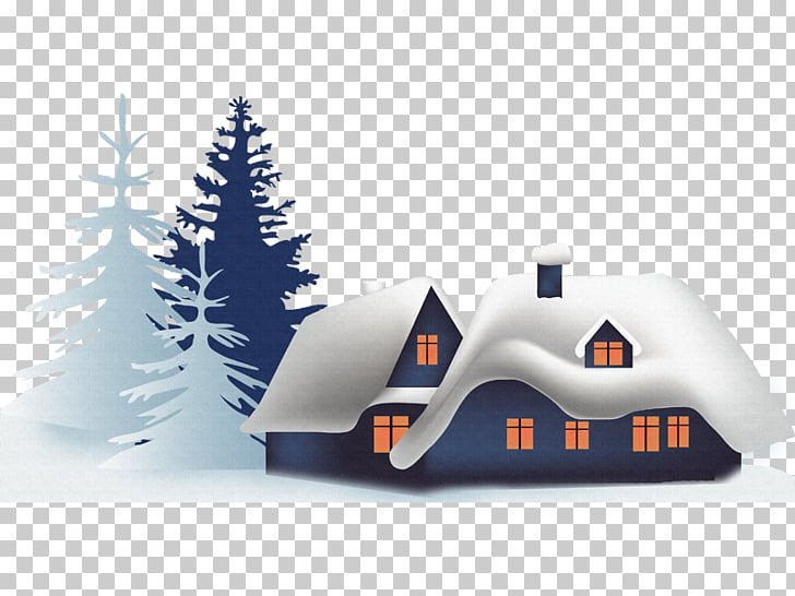 Winter Computer file, village PNG clipart.