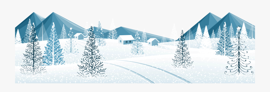 Winter Ground With Trees Png Clipart Image.