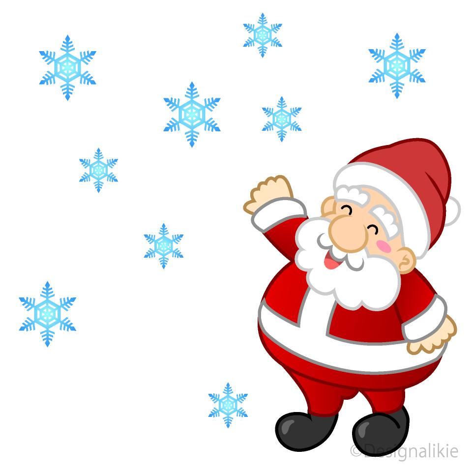 Free Falling Snow and Santa Clipart Image|Illustoon.