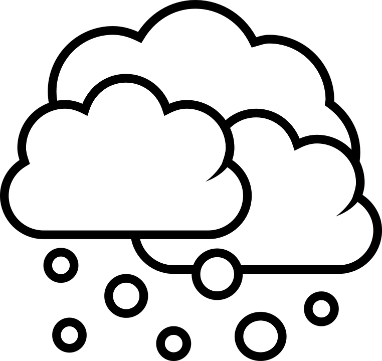 Snow Cloud PNG Black And White Transparent Snow Cloud Black.