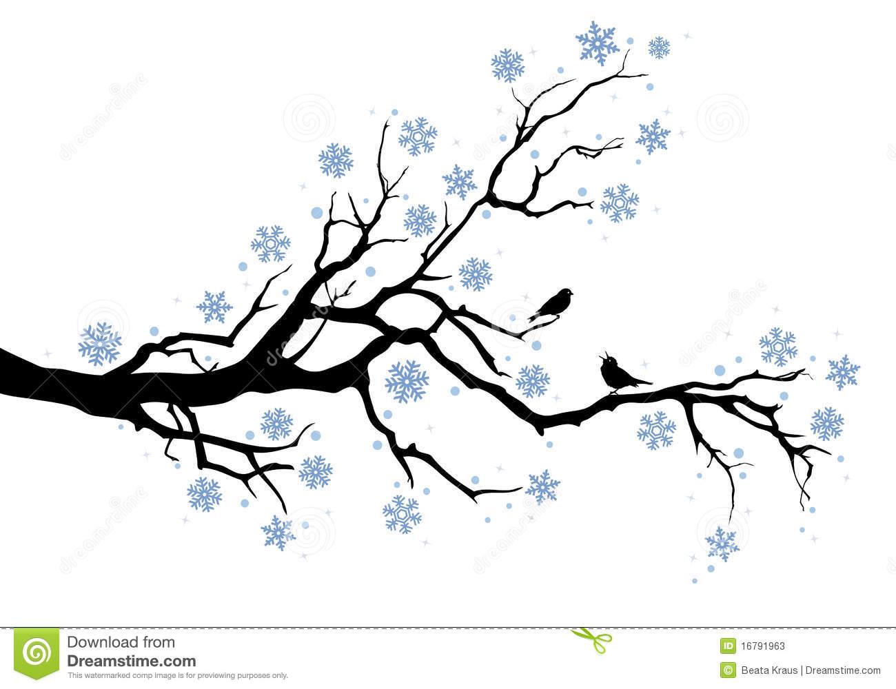 Winter Tree Free Clipart.