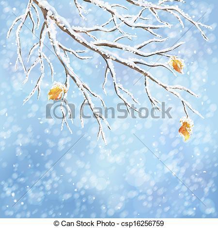 Clipart Vector of Winter vector snow.