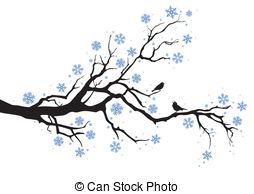 Clipart Winter Tree Border.