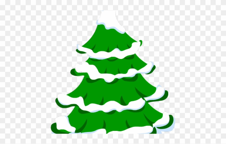 Fir Tree Clipart Snow Covered Tree.