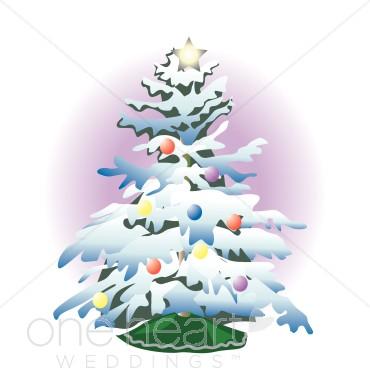 Snowy Christmas Tree Clipart.