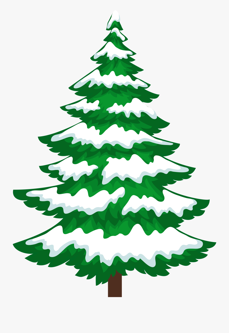Clip Art Christmas Tree With Snow Clip Art.