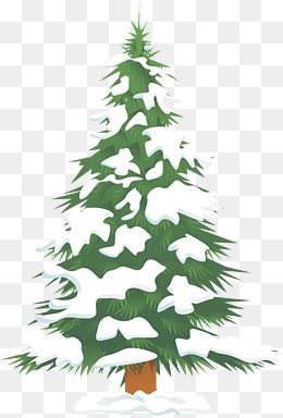 Green Snow Christmas Tree, Tree Clipart, Green, The Snow PNG.