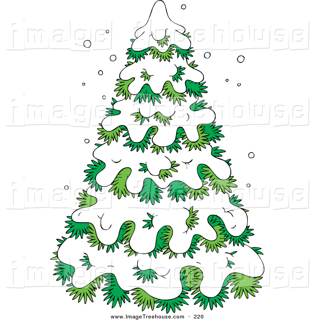 Christmas Winter Snow Covered Trees Trees Clip Art.
