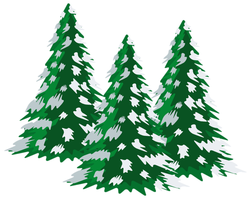 Snow covered tree clipart.