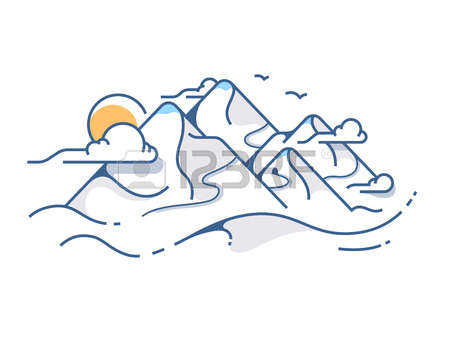 317 Snow Covered Mountains Stock Vector Illustration And Royalty.