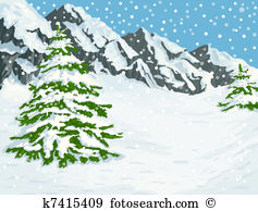 Snow covered mountain Clipart EPS Images. 538 snow covered.