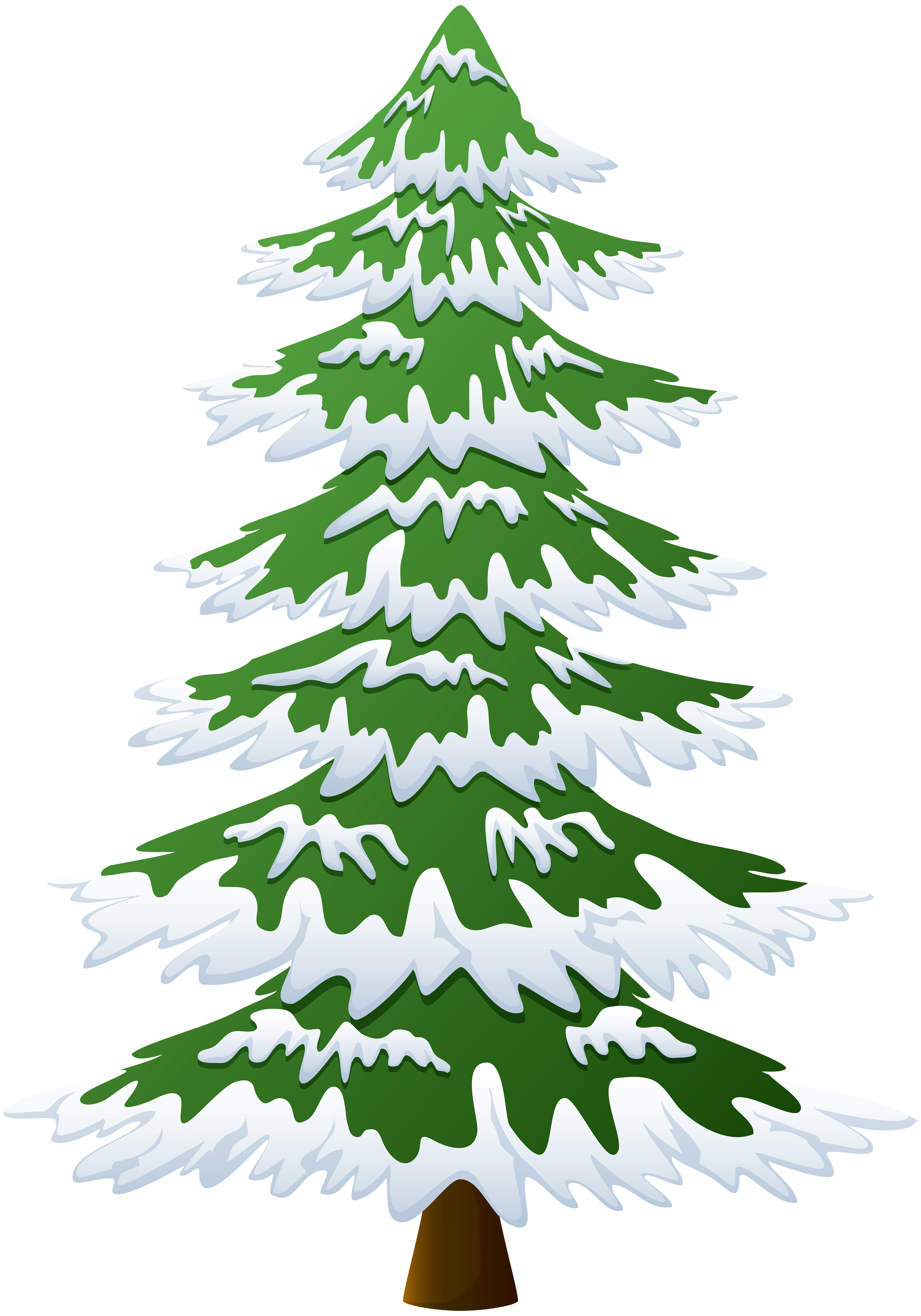 Transparent Background Snow Covered Tree Clipart Winter Clipart.