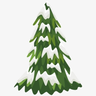 Clipart Snowy Pine Tree.