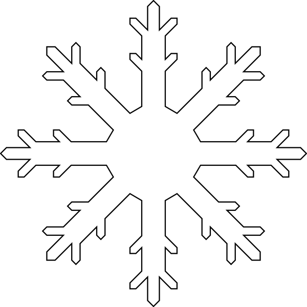 White Snow Flake Clip Art at Clker.com.