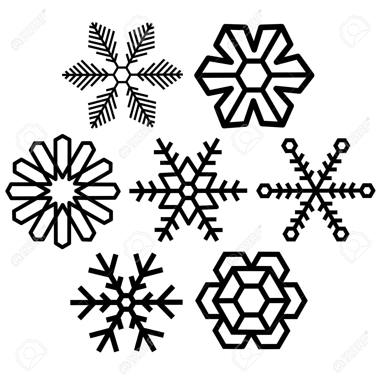 Snow crystal clipart.