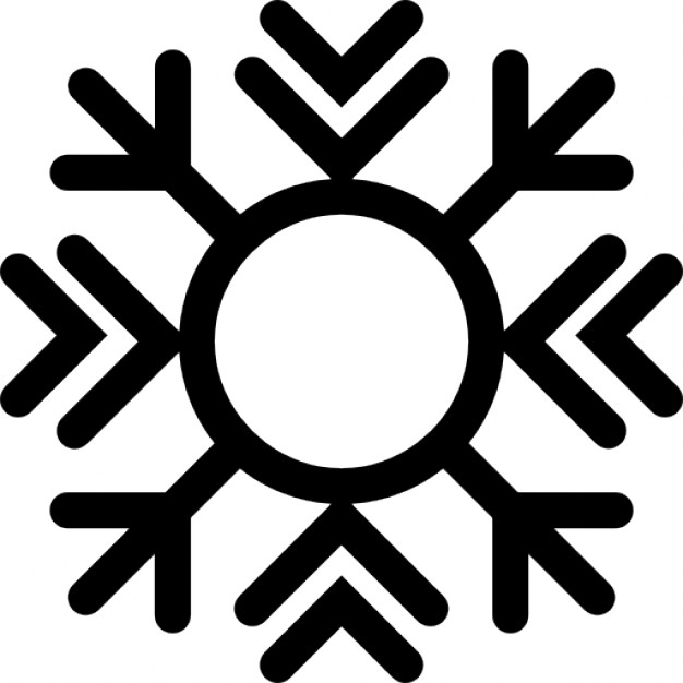 Snow crystals clipart #20