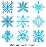 Clip Art Snow Crystal.