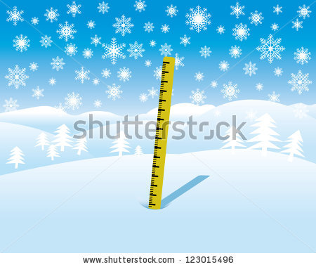 Measuring Snow Stock Images, Royalty.