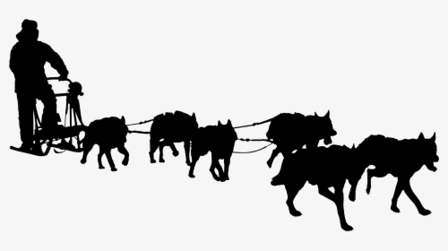 Transparent Sled Dogs Clipart.