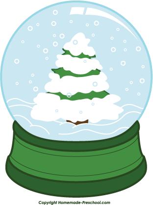 Snow Globe Christmas Ornament Clipart.