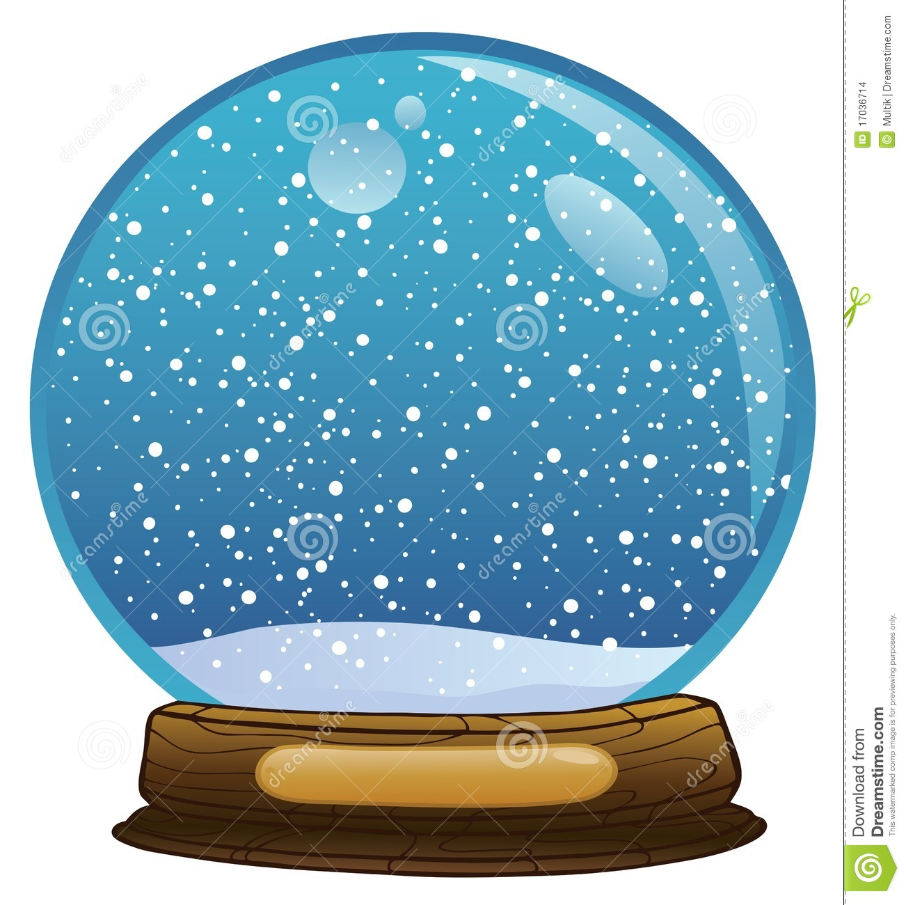 Empty snow globe clipart.