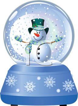 Snow Globe with Snowman.