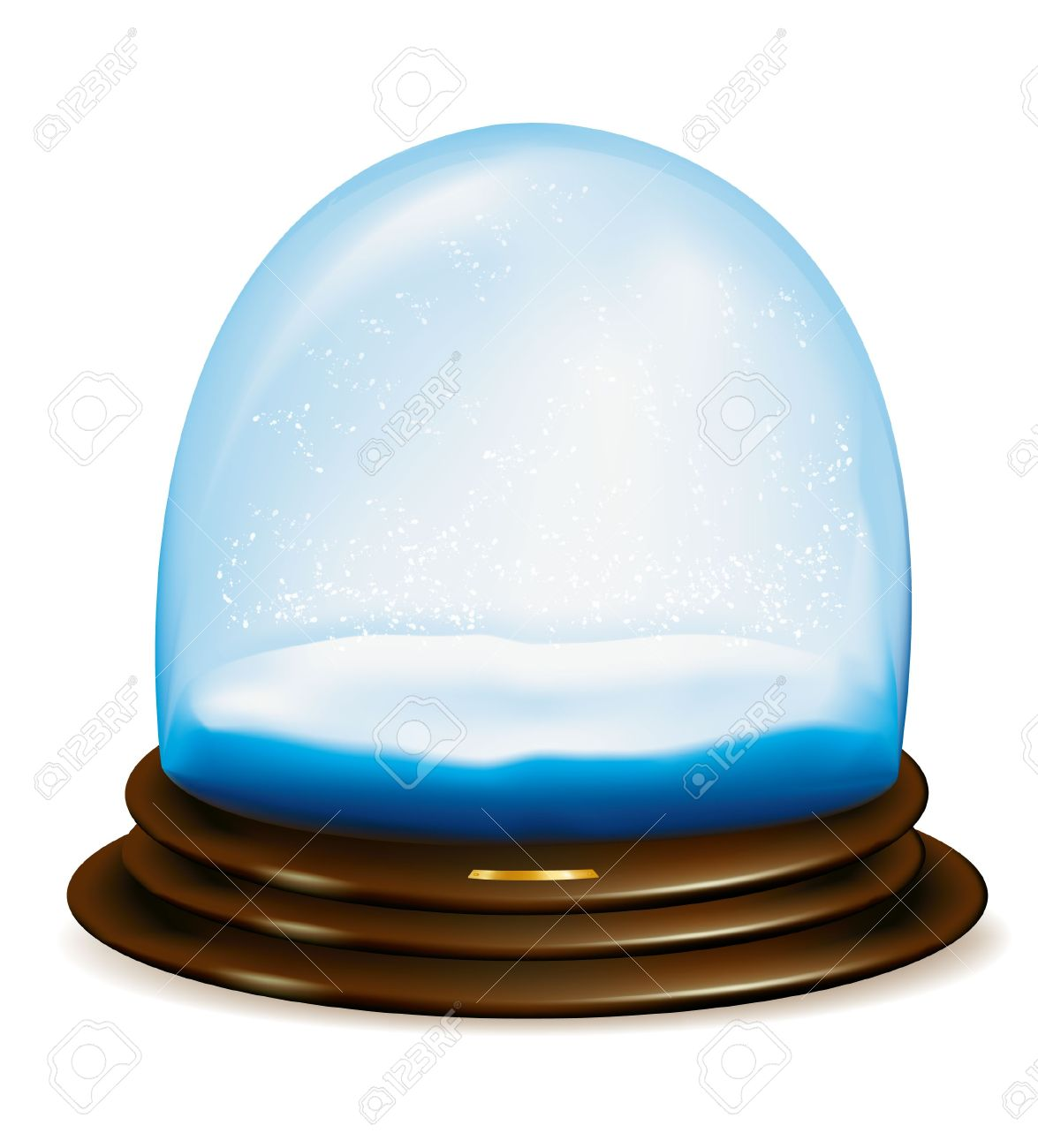 Empty Snow Dome Over White Background.illustration Royalty Free.