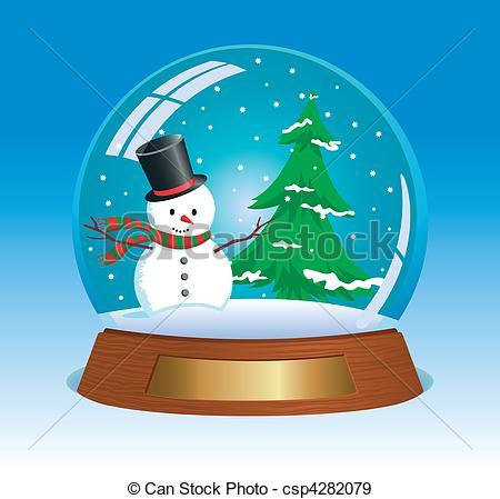 Clip Art Snow Globe City Clipart.