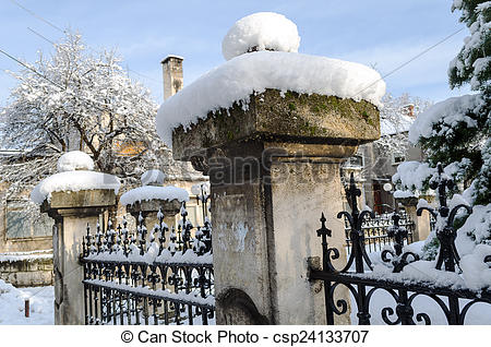 Stock Illustration of Old snow fence.