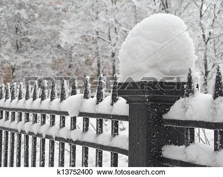 Stock Photography of Snow fence k13752400.