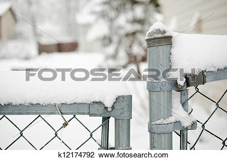 Stock Photo of Snow Fence k12174792.