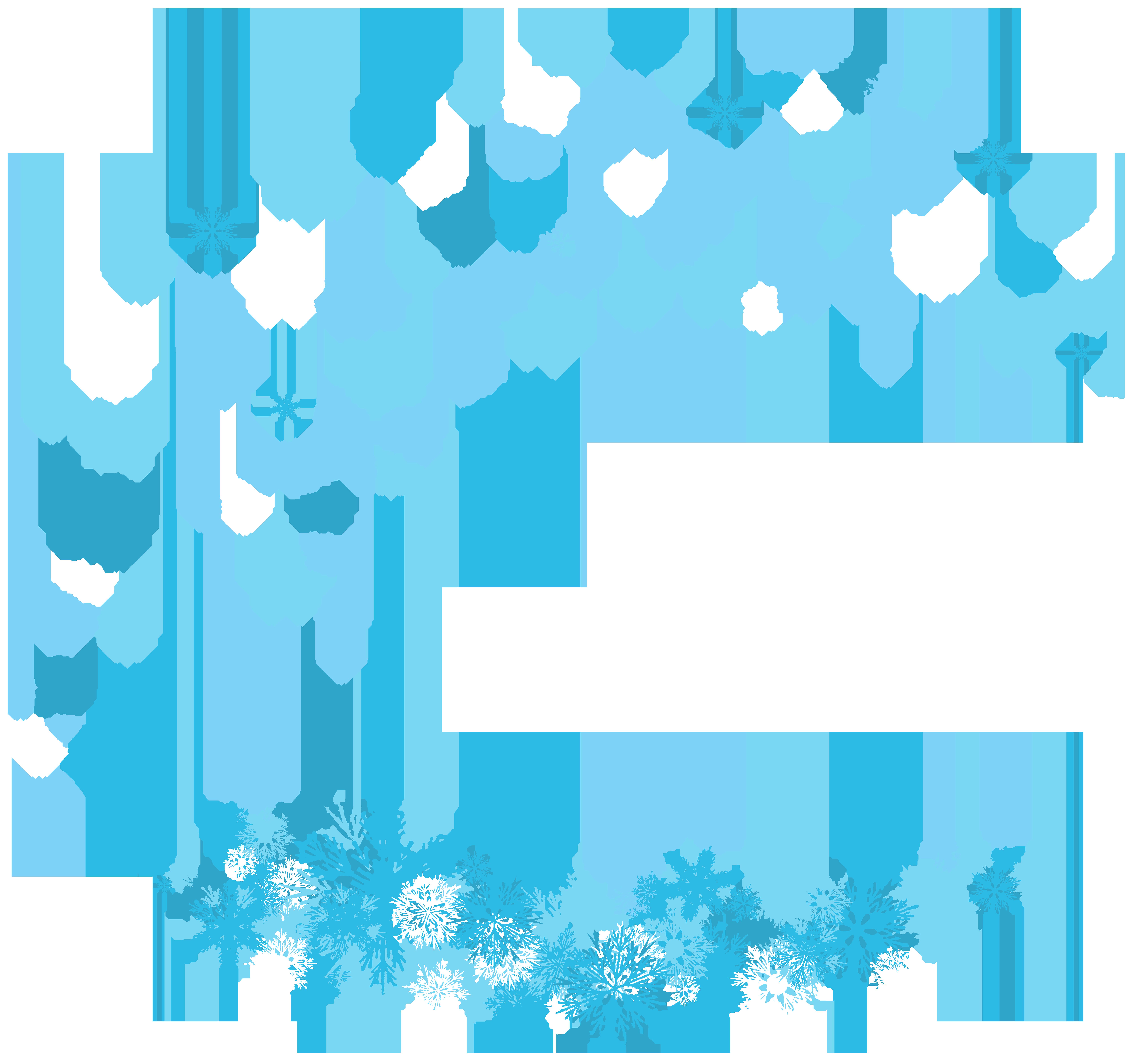 Winter Decoration Snowflakes PNG Clip Art Image.