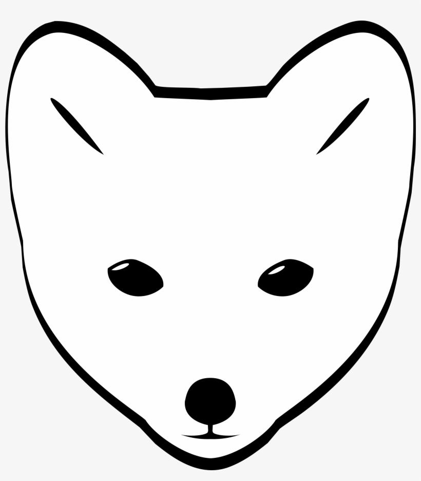 Clipart Arctic Fox Head.