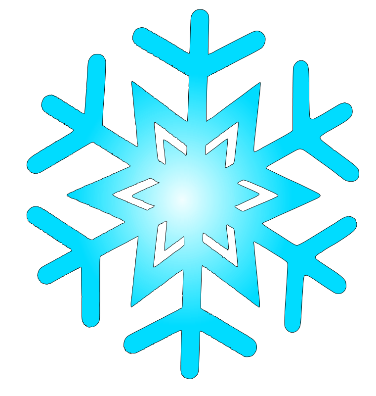 Free Clipart: Snow flake 8.