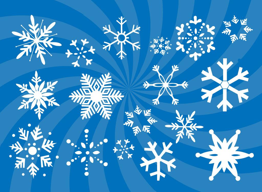 Snowflakes Vectors Set.