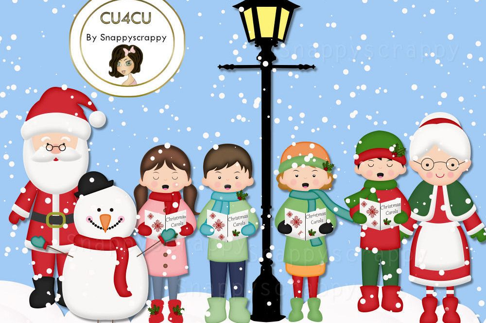 Christmas Snow Fun Clipart.